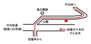 竹内峠石標