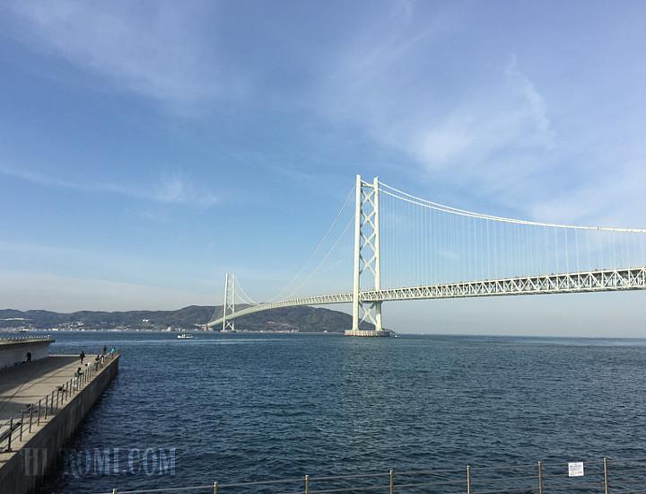晴天 明石海峡大橋 ツーリング