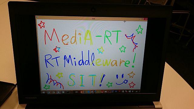少人数グループによるRTミドルウェアを用いたメディアアート制作