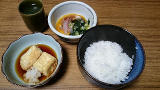 鯛飯と揚げ出し豆腐