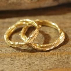 オーダーメイド結婚指輪 10金 イエローゴールド