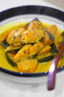 かぼちゃのココナッツ豆乳煮2