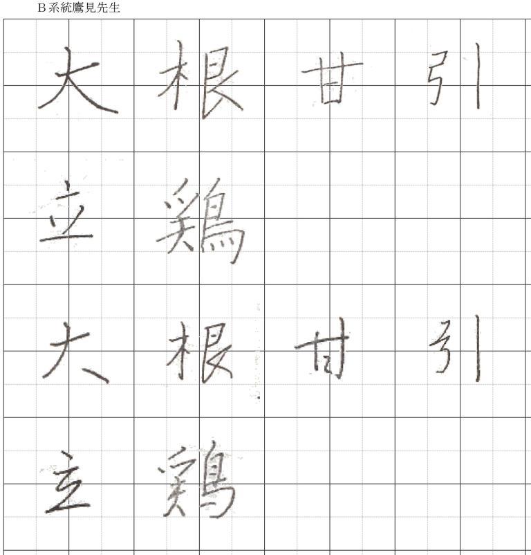 漢字比較_鷹見