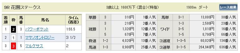 【払戻金】1108京都9(競馬 3連単 万馬券)