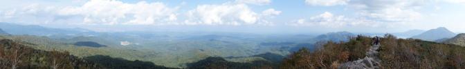空沼岳山頂からの眺め(北~南側)