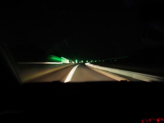 道東自動車道をひた走る