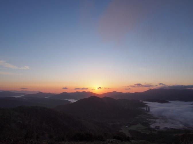 トマム雲海テラスの雲海と朝日