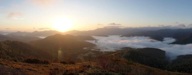 トマム雲海テラスの雲海(パノラマ)