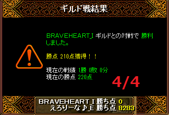 4月4日えろりなvsBRAVEHEART