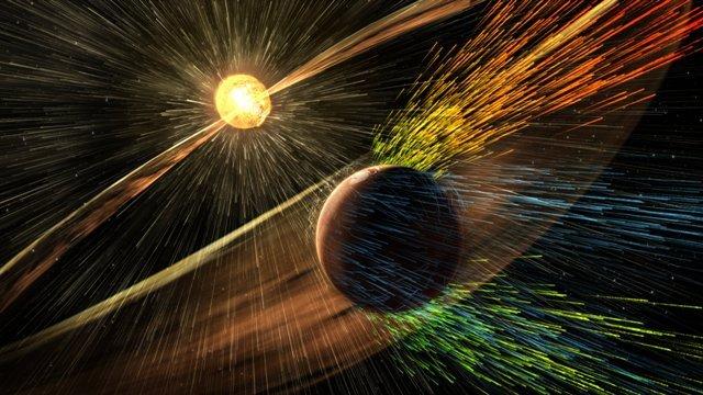 太陽風火星
