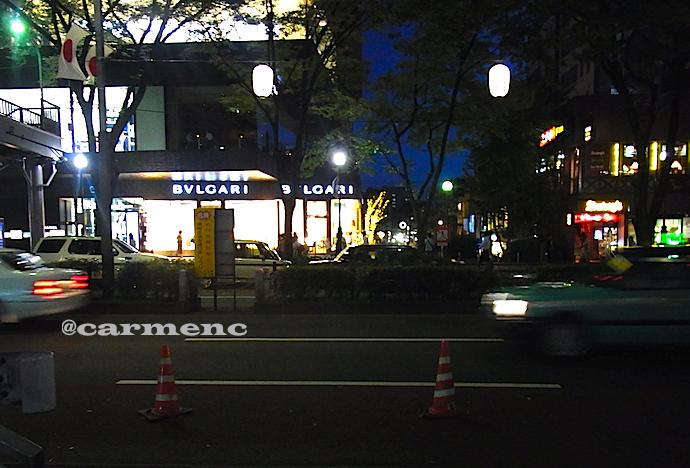 夜の表参道