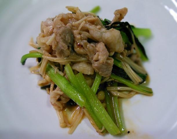 豚と小松菜サッと炒め