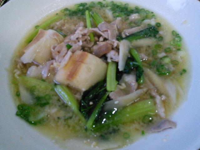 小松菜の豚汁