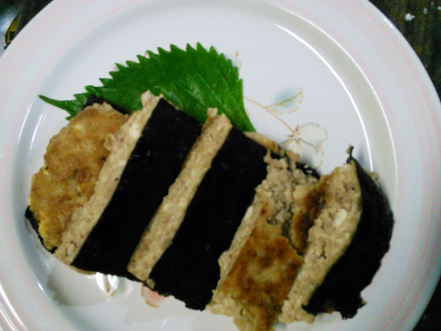 豆腐と海苔のかば焼き風