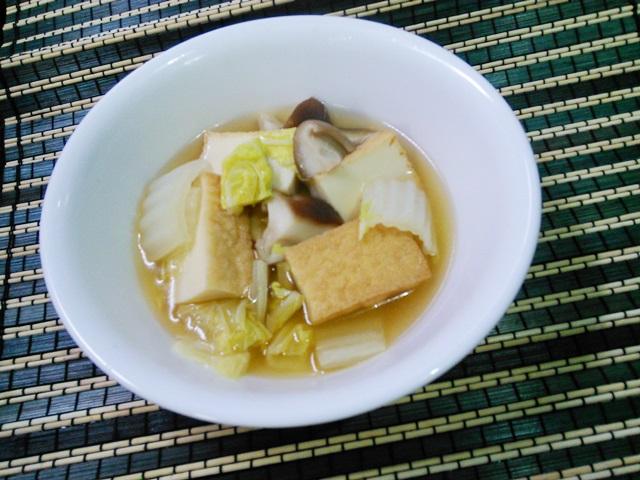 厚揚げの白菜の煮物