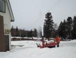 作業場の除雪