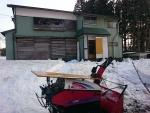 棚田の母屋の除雪