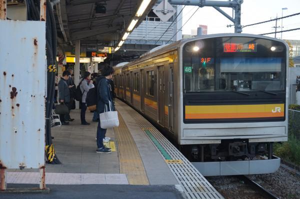 2015-12-04 南武線205系ナハ46編成 快速川崎行き1