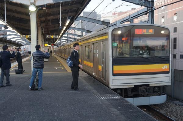 2015-12-04 南武線205系ナハ46編成 快速川崎行き2