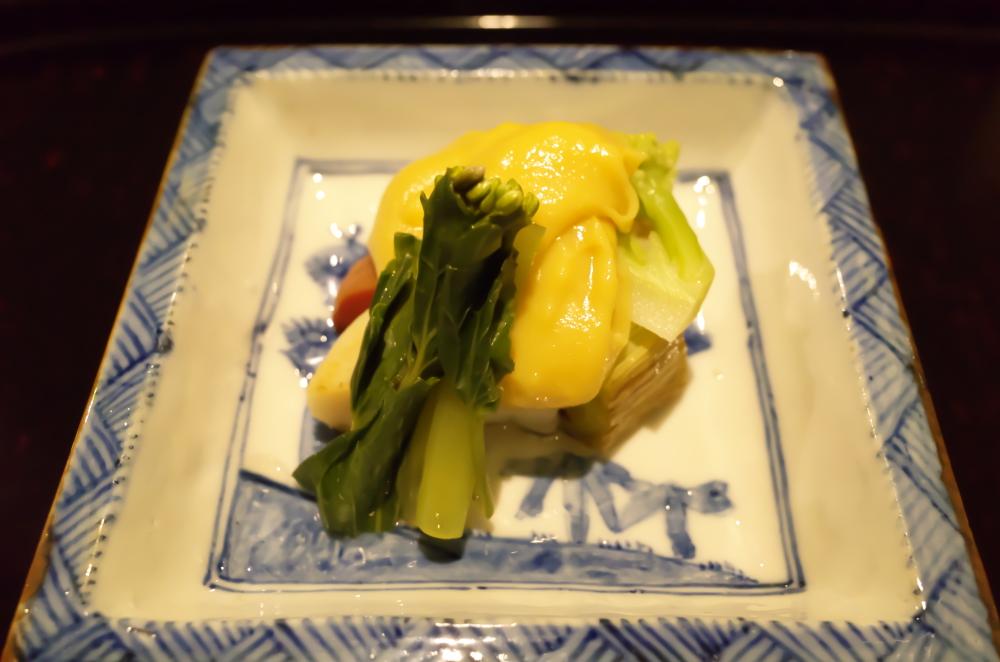 帆立貝柱と季節の野菜 ゆず味噌