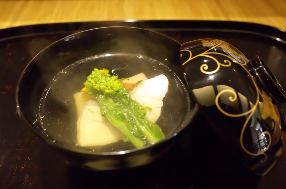 明石産鯛とごま豆腐 お吸いもの