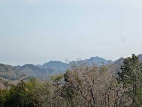 奥久慈の山並みの眺望