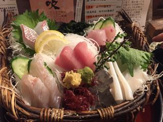 漁師の刺し盛り(中)