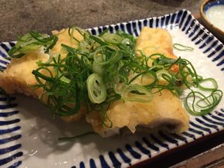 アナゴの天ぷらの葱まみれ