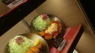松乃家、チーズトマトささみかつ定食2
