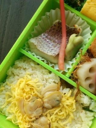 崎陽軒蛤(はまぐり)ごはん弁当3