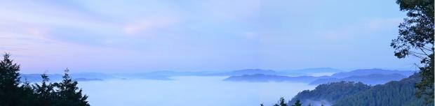 雲海のパノラマ写真
