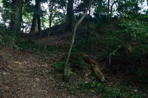 大松山城 本丸と二の丸付近