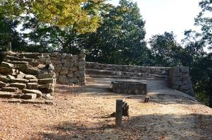 後曲輪と九の平櫓跡