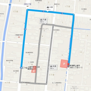イベント駐車場案内(Googleマップ)