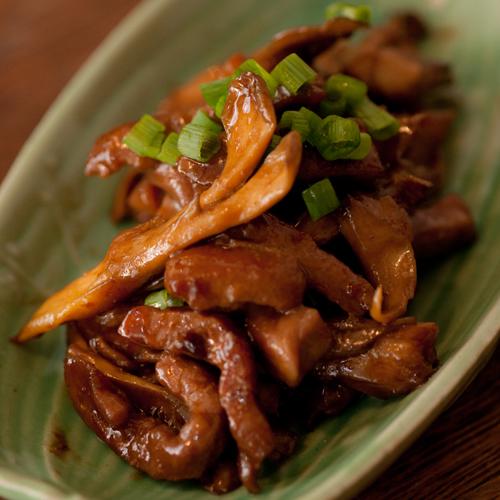 牛肉と舞茸の醤油炒め2