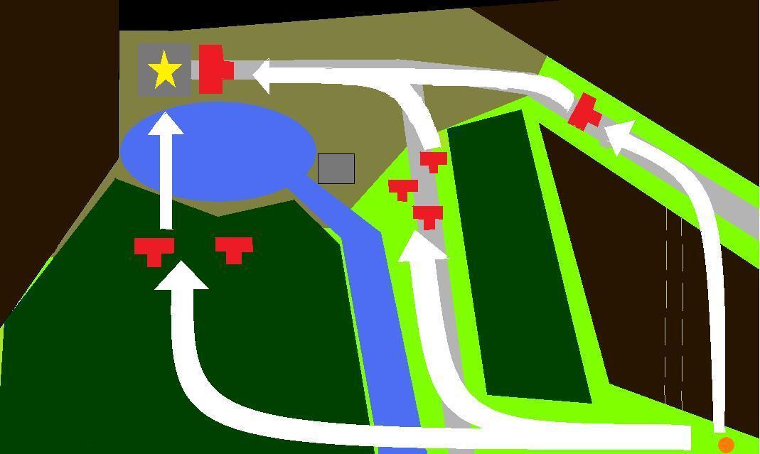 首都までの道のり 進軍ルート案