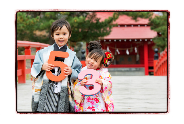 青森県 平川市 猿賀神社 七五三 猿賀公園 記念 写真 撮影 カメラマン 出張 ロケーション 神社 お参り お詣り