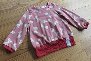 リボンラメドット柄pink120