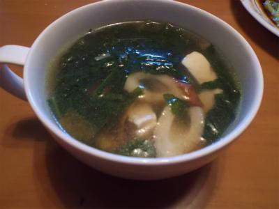 10.24ほうれん草の中華スープ