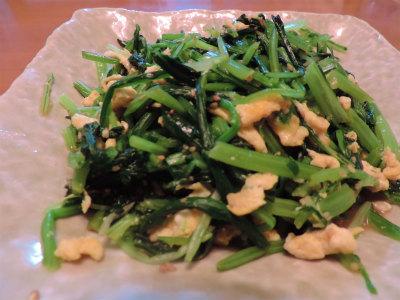 11.4壬生菜と水菜の和え物