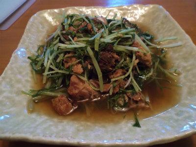 11.28水菜と鯖缶の煮付け