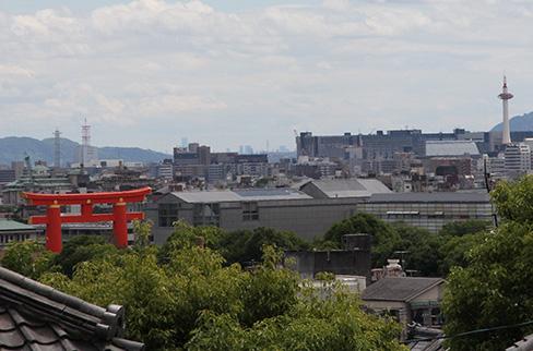 金戒光明寺から見える平安神宮・大鳥居_H27.06.06撮影