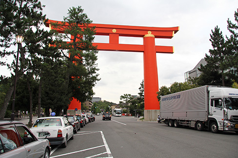 平安神宮・大鳥居(内から外へ)_H27.09.09撮影