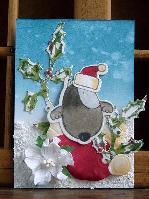 クリスマスATC 「Santa hat」