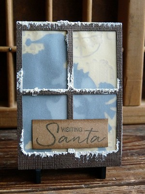 Lighting Artist Trading Cards -visiting Santa-