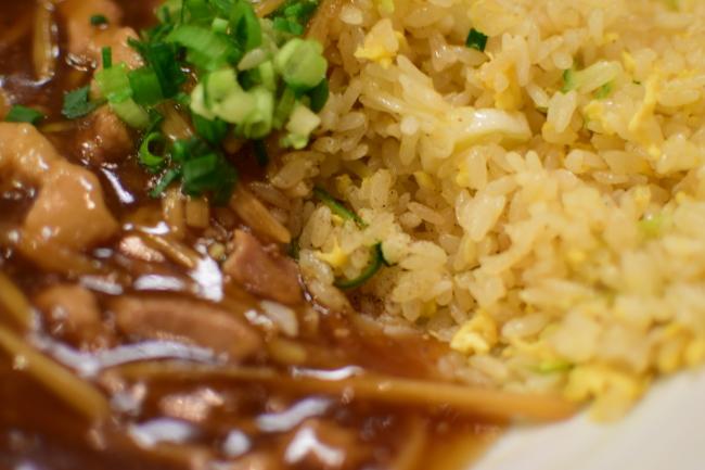 肉炒飯 山椒かけ