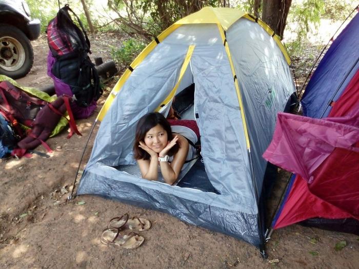 ボツワナでテント泊