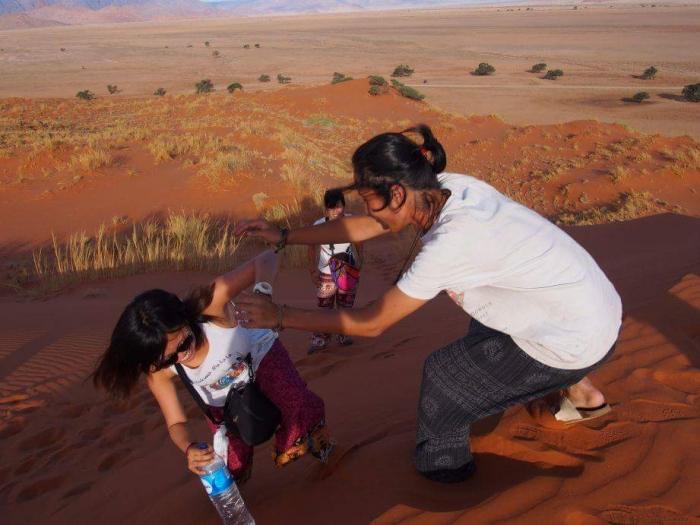 ナミブ砂漠サンセット1