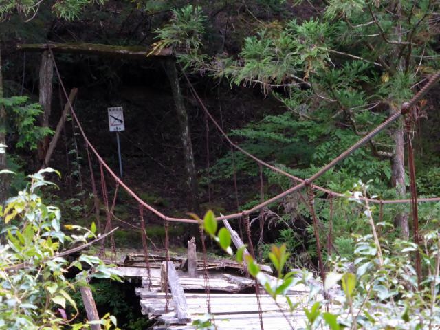 東俣の吊橋3