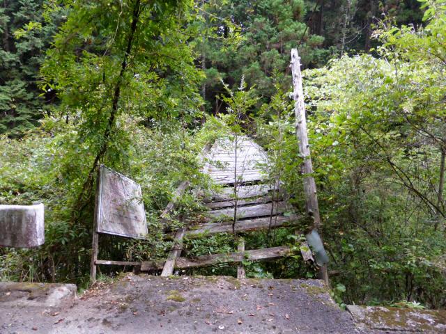 東俣の吊橋6